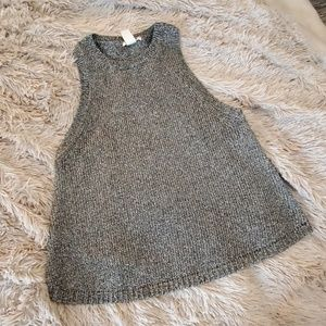 Beautiful silver sparkly H&M sweater tank top